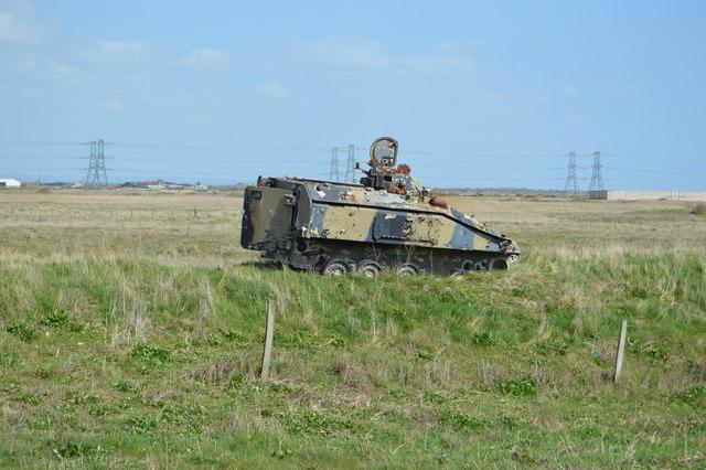 Abandoned armoured vehicle