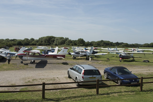 Parked planes