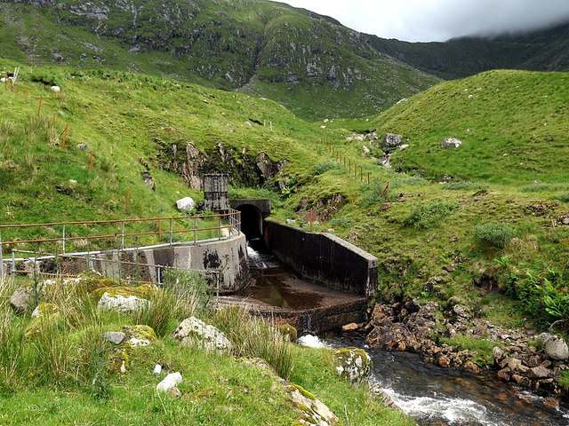 Tunnel feeder outlet above Cruachan Reservoir