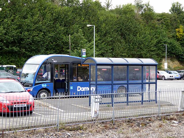 Bus at Yeovil Junction Station
