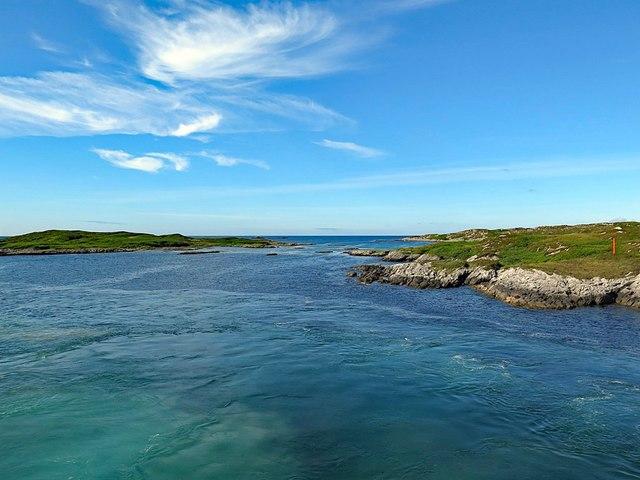 Tidal sound between Eilean Ornsay & Coll