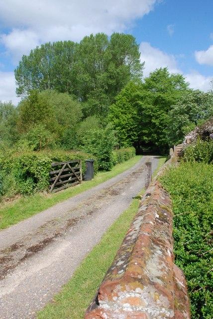 Track to St Margarets Church Syleham Suffolk