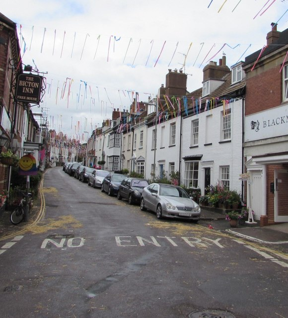 One-way part of Bicton Street, Exmouth
