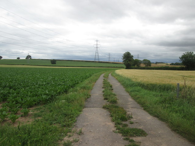 Farm track towards Grimston Hill