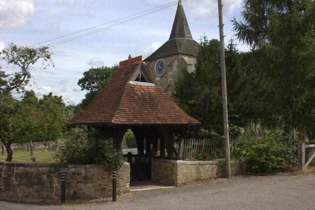 Church gate at Mickleham