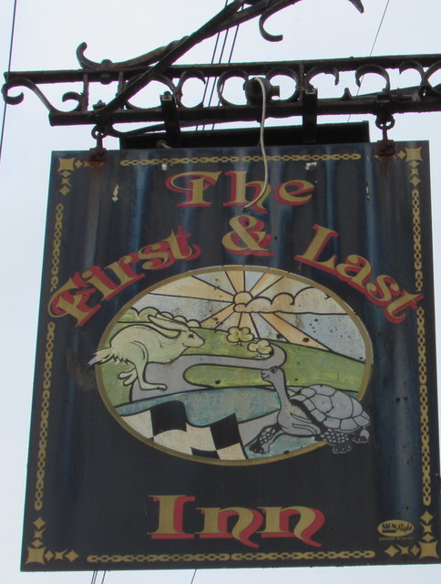 The First & Last Inn name sign, Exmouth