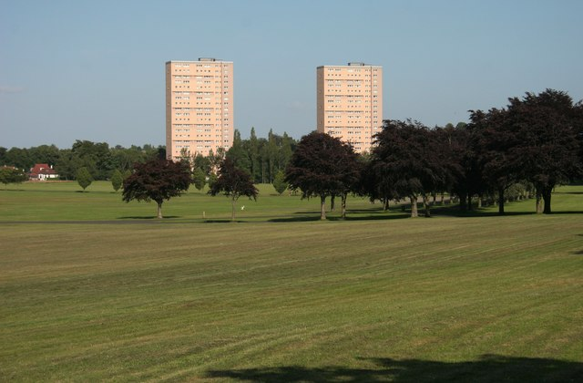 Tower blocks on Dumbreck Court