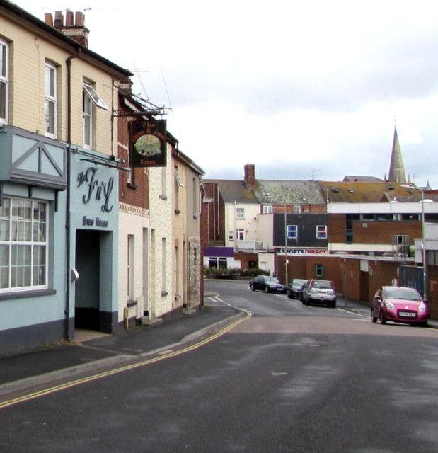 West along Church Street, Exmouth