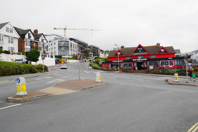 Road junction in Woolacombe