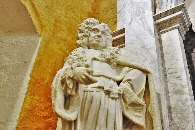 Quainton, Holy Cross and St. Mary Church: Rysbrack memorial to Judge Dormer's son, Fleetwood (d.1726) 3