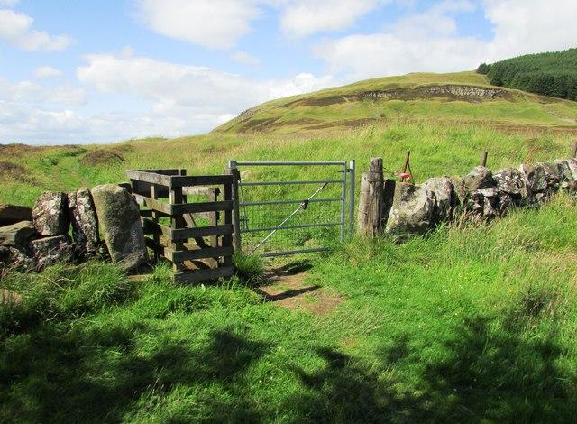 Gate on path to Bishop Hill, Lomond Hills
