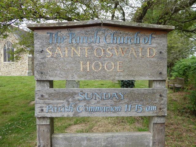 St Oswald, Hooe: noticeboard
