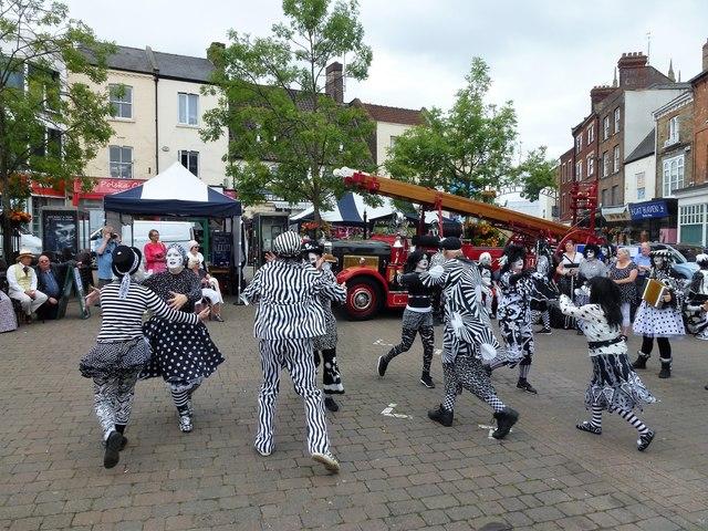 Pig Dyke Molly dancers in Wisbech