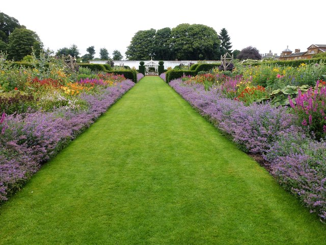 Looking across the walled garden at Houghton Hall, Norfolk