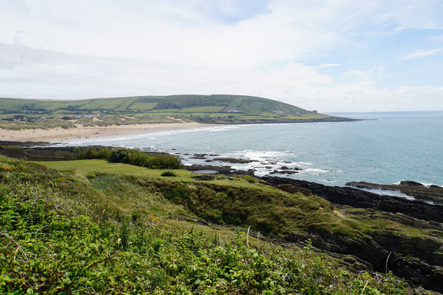 The northern side of Croyde Bay