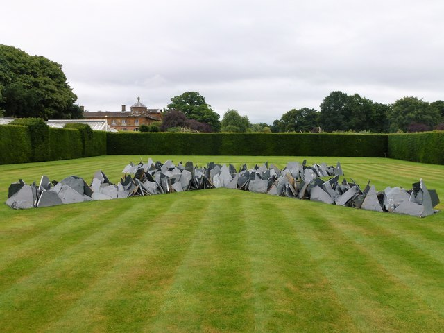 The Houghton Cross by Richard Long at Houghton Hall