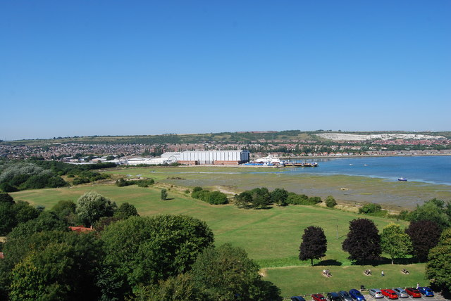 The view north from Portchester Castle (1)