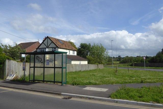 Bus shelter, Hilperton Marsh