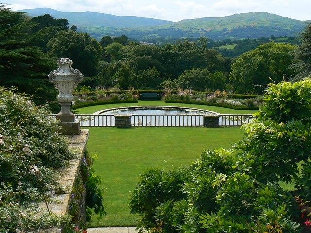 Ornamental pond, Bodnant Gardens