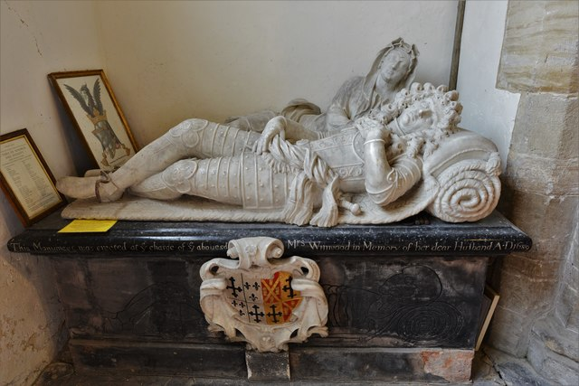 Quainton, Holy Cross and St. Mary Church: Richard Winwood (d. 1689) memorial erected by his wife 1
