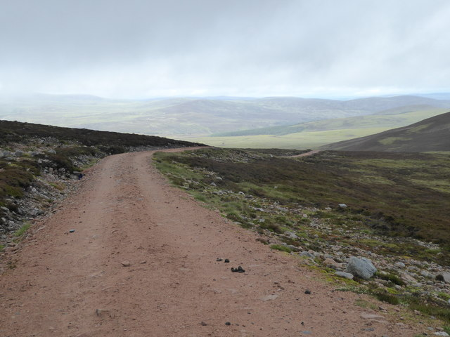 The Burma Road looking towards the River Dulnain valley