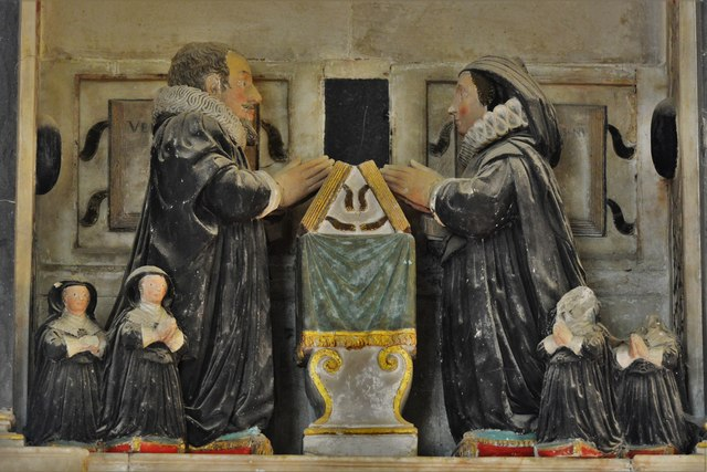 Quainton, Holy Cross and St. Mary Church: Dr. Richard Brett (d.1637) memorial 2