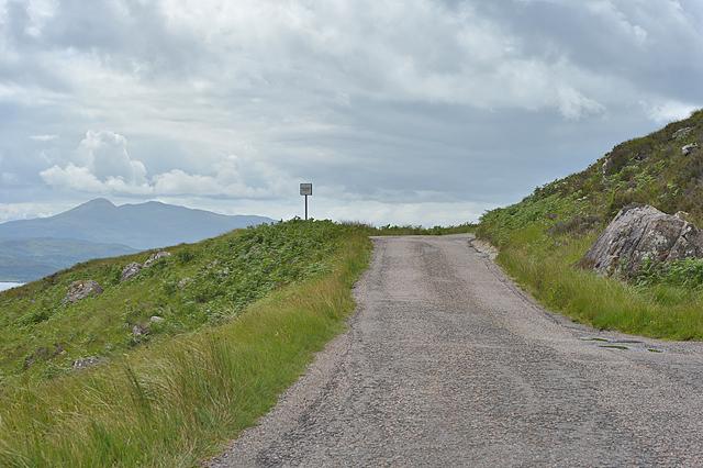 The Applecross road climbing Coire nan Uan