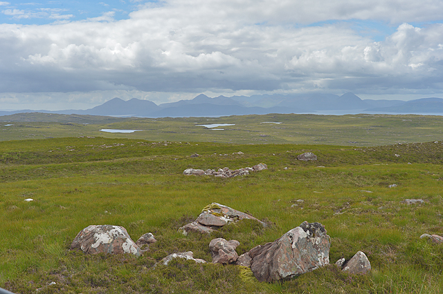 Moorland south west of the Applecross road