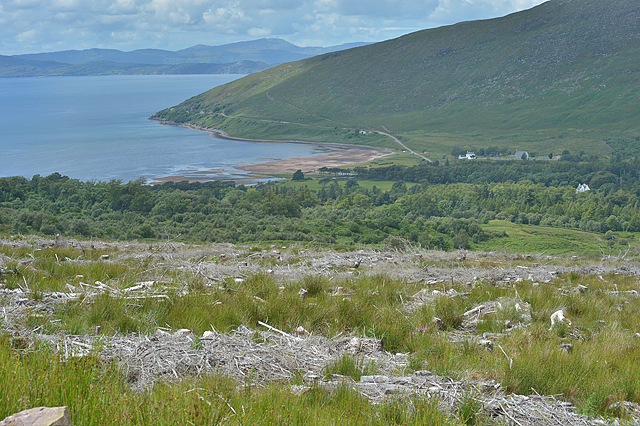View down to Applecross Bay