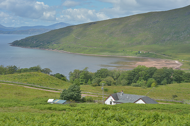 Looking down to Applecross Bay