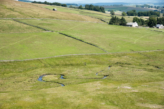 Meanders of Cawdale Beck