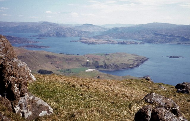 The view eastwards from Ben Hiant