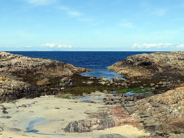 Rocky shore of north-east Tiree