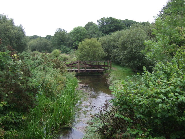 Foot bridge over the River Hayle, Townshend