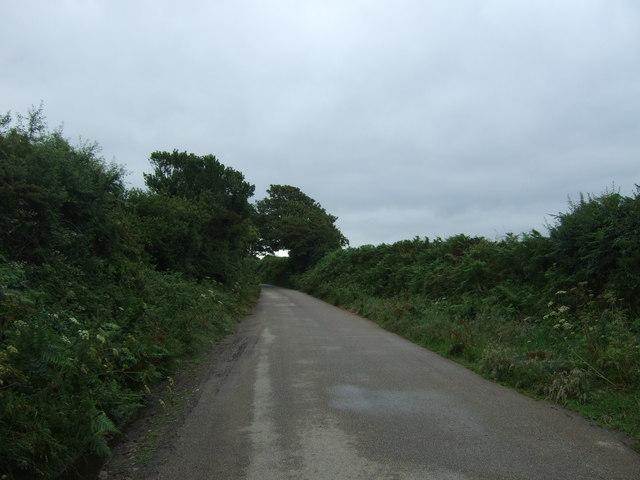 Minor road near Penhale-an-drea