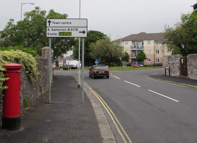 Rolle Road directions sign, Exmouth