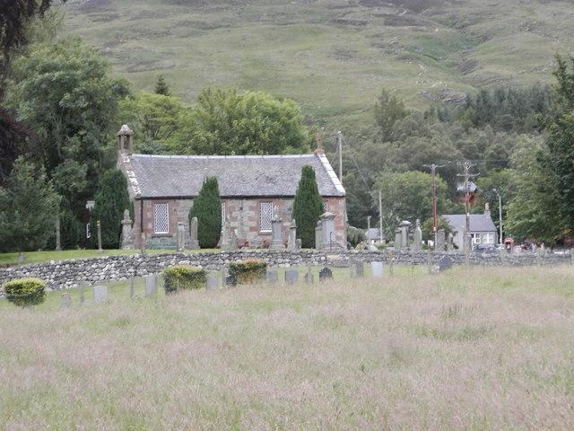 Clova Parish Kirk and graveyard