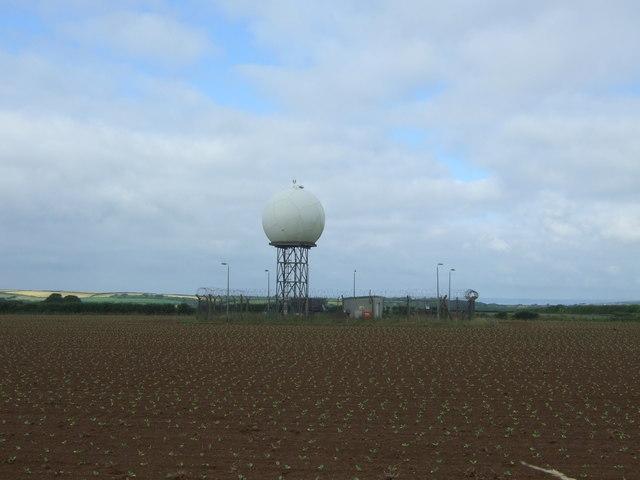 Radar dome near RNAS Culdrose