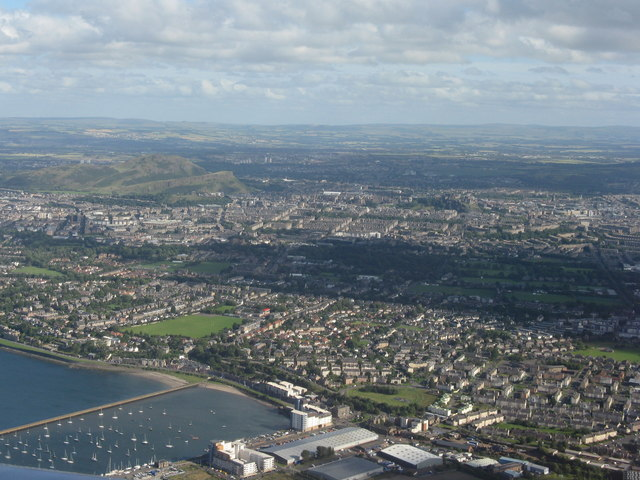 Edinburgh from over the Firth of Forth