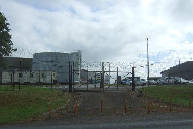 Blocked entrance to RNAS Culdrose