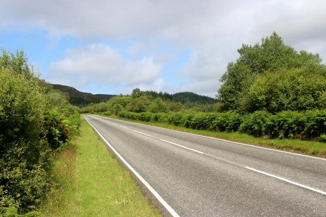 The high road from Colintraive to Strachur