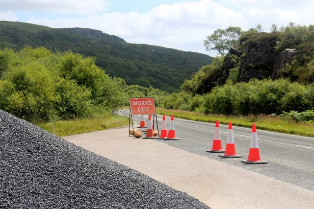 A layby along the A886