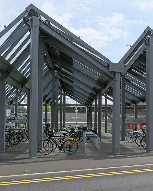 Bike sheds at Cambridge North