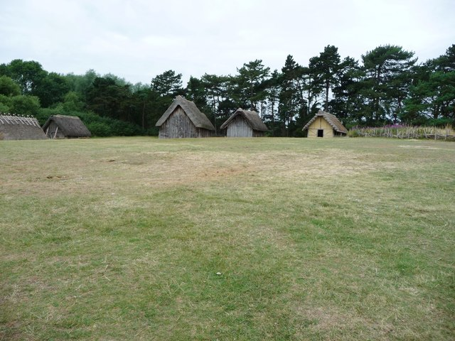 West Stow Anglo-Saxon village from the north-east