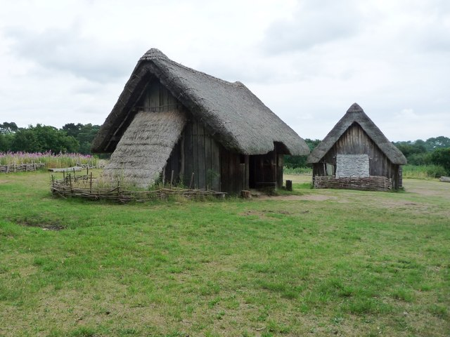 Two houses, West Stow Anglo-Saxon village