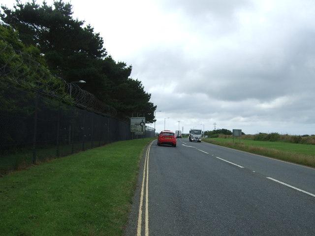 Heading south east beside RNAS Culdrose
