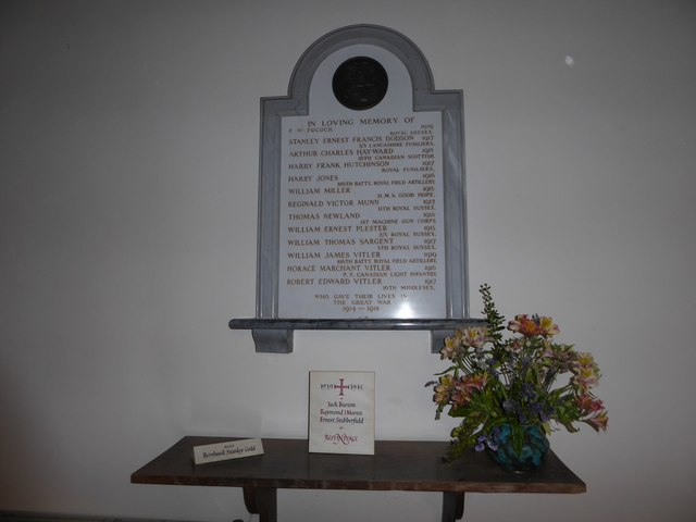 St Oswald, Hooe: memorial (a)