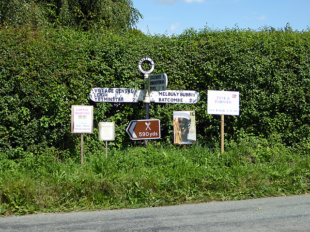 A plethora of road signs and notices in Chetnole