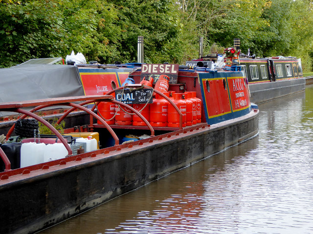 Coal, diesel and gas by Marbury Lock, Cheshire