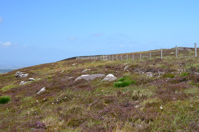 Boundary fence south of West Cairn Hill